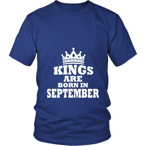Perfect Kings Are Born In September Birthday T-Shirt