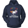 Unicorns are Born in September T Shirt | Unique Unicorn Gift