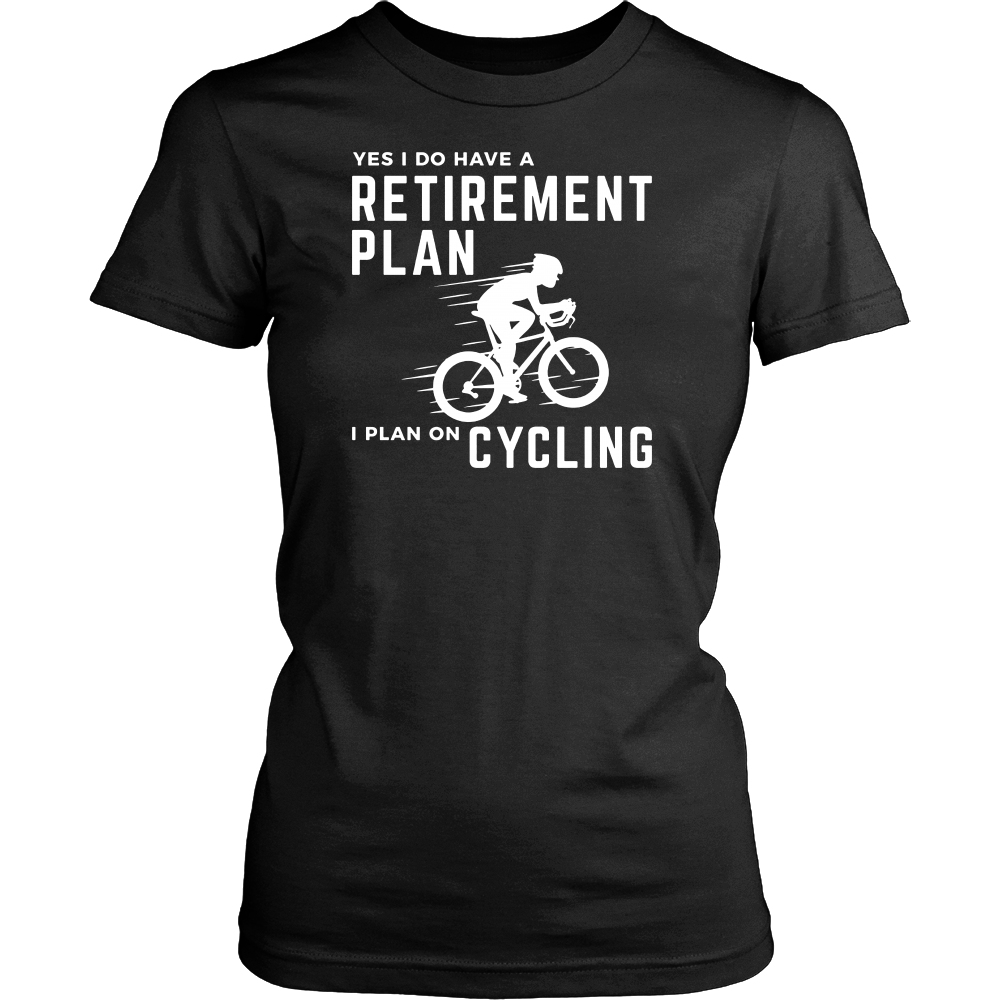 Retirement Plan Funny Bicycle Cycling Humor Graphic T-Shirt
