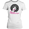 Queens Are Born In August - Black Afro Word Art Natural Hair
