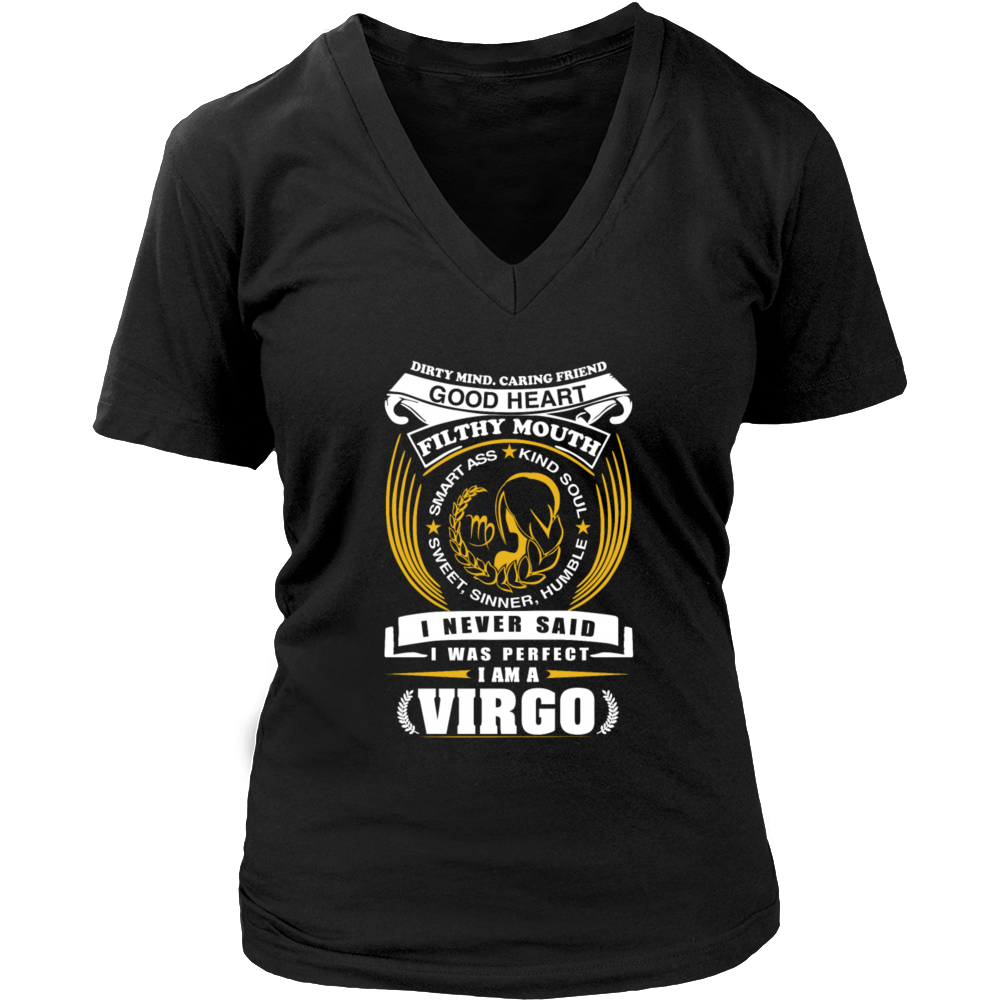 Dirty Mind Caring Friends Good Heart Virgo T-SHirt
