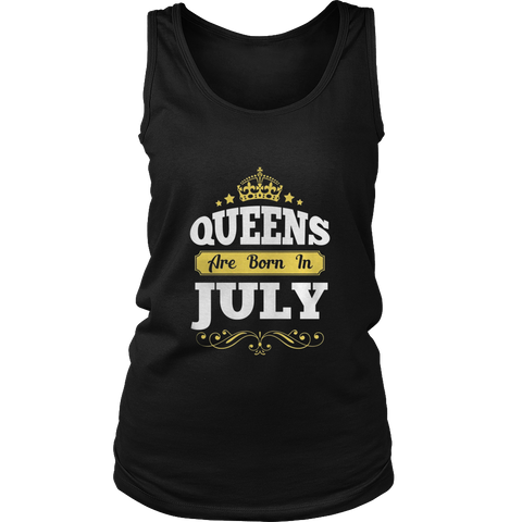 Queens Are Born In July T-Shirt, Birthday Tee Shirt