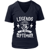 Legends are born in September Tee Shirt