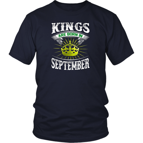 Kings Are Born In September Shirts