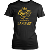 Women's Birthday T-Shirt Queens Are Born In January