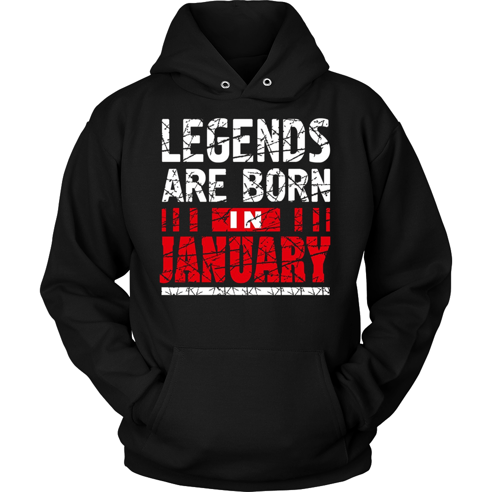 Legends Are Born In January T-Shirt Birthday Gift Shirt