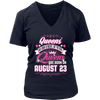Queens Are Born On August 23 Birthday Gift Shirt