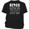 Black Kings Are Born In January T-Shirt