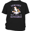 Unicorns Are Born In September T-Shirt Men Women And Kids