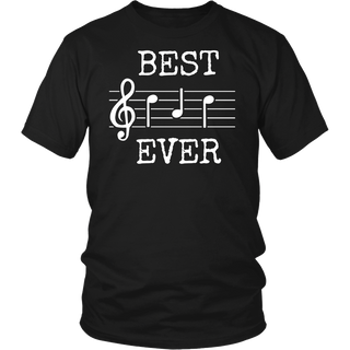 Best Dad Ever Music Shirt Cute Funny Saying Fathers Day Gift
