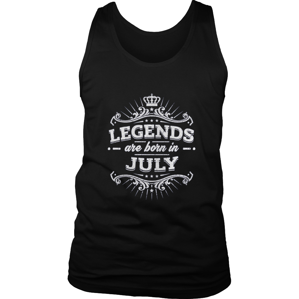 LEGENDS ARE BORN IN JULY BIRTHDAY SHIRT