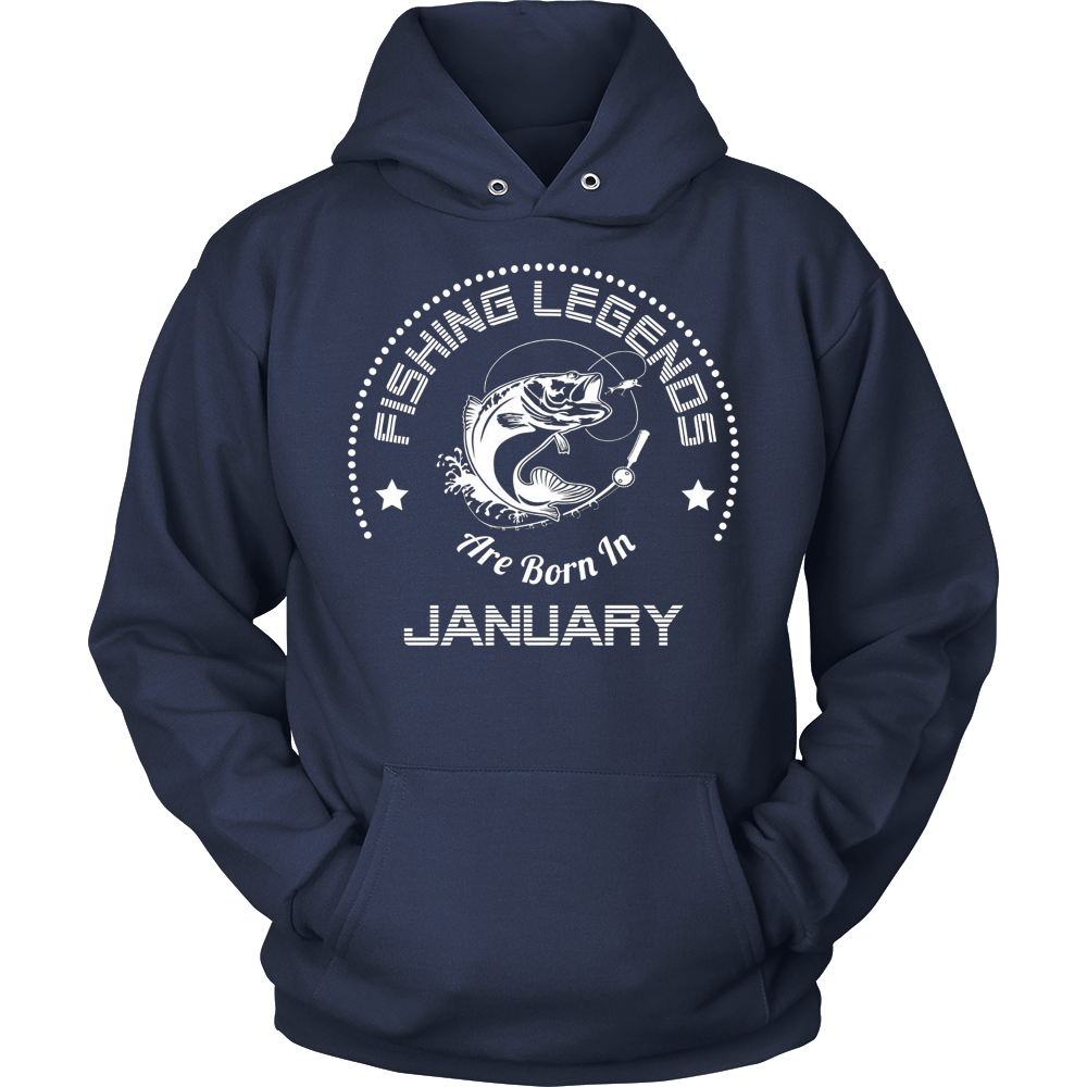 Funny T-Shirt Fishing Legends Are Born In January