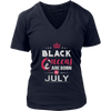BLACK QUEEN ARE BORN IN JULY T-SHIRT