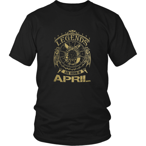 Legends Are Born In April T Shirt - Birthday Gift Tee
