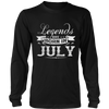 LEGENDS ARE BORN IN JULY TEE