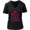 Princesses are born in December T shirt