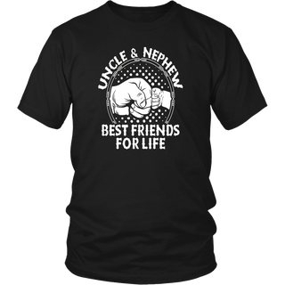 Uncle and nephew best friends for life T-shirt dad papa gift