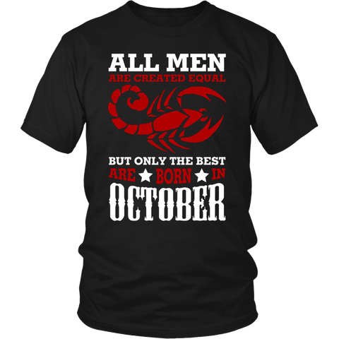 Funny Scorpius T-Shirt The Best Are Born In October