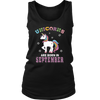 Unicorns Are Born In September - Birthday T-shirt