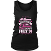 Queens Are Born On July 30 Birthday Gift Shirt Funny