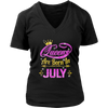 Queens Are Born In July Tshirt birthday gifts