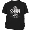 Queens Are Born In May T-Shirt - Original Design