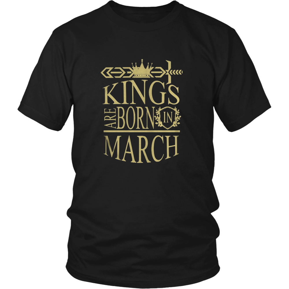 Kings Are Born In March Birthday Gift T Shirt Bday T-Shirt