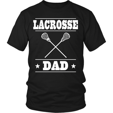 Men's Lacrosse Dad T-shirt Fathers Day Sports Gift Tee
