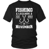 Fishing Legends Are Born In November Birthday Gift T-shirt
