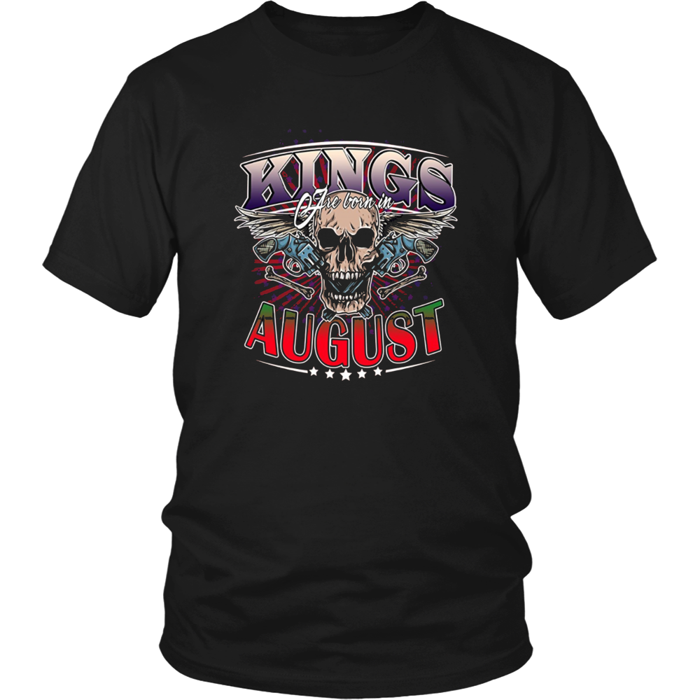 King are born in August Tshirt Birthday gift shirt