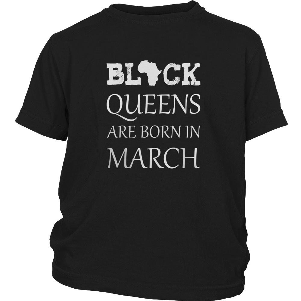 Women's Women's Queens Are Born In March - Birthday T-Shirt