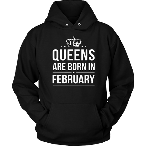Women's Queens are born in february T-shirt