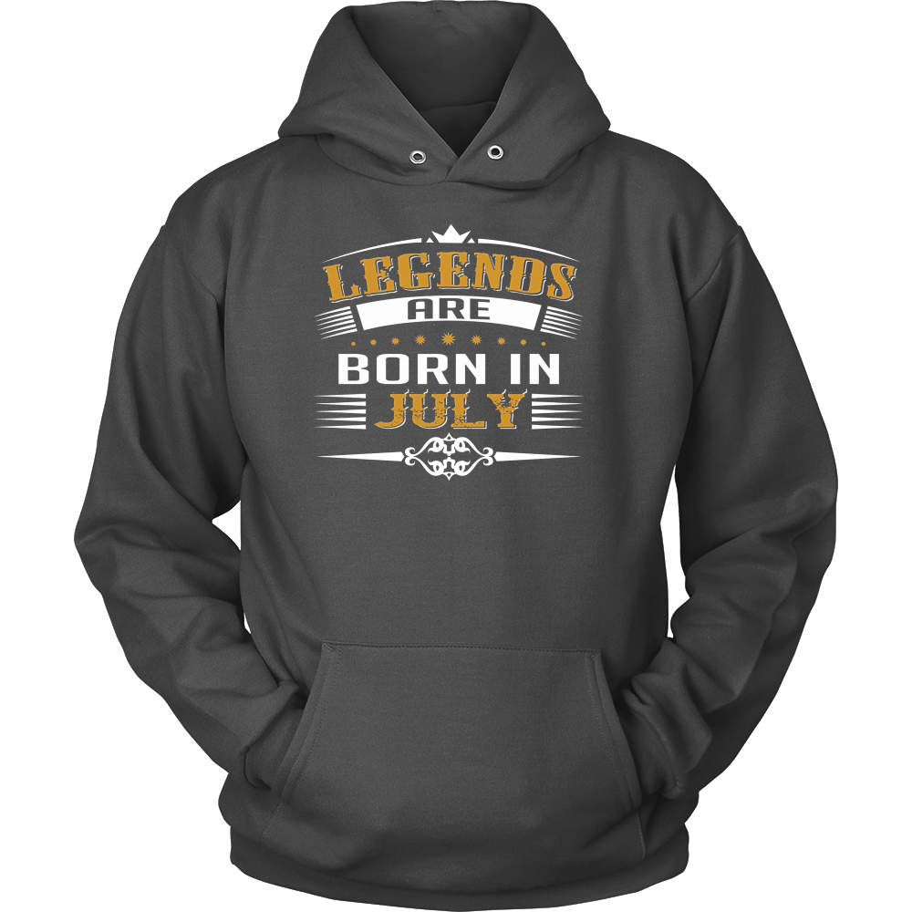 Soccer Legends are Born in July Birthday T-shirt