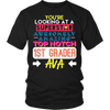 unisex-child First Grade Shirt For Ava Going Back To School