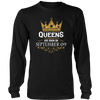 Queens Are Born On September 09 - Birthday T-Shirt Gifts