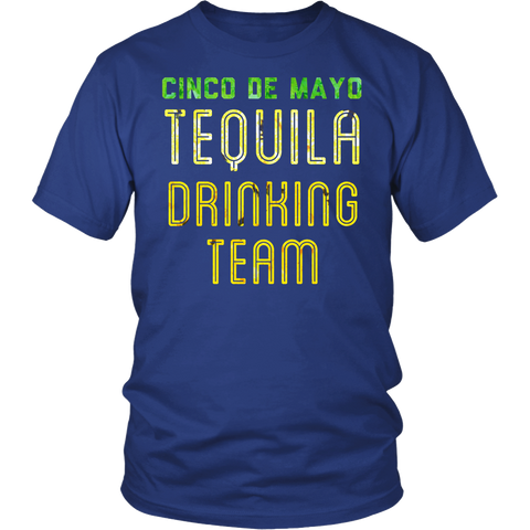Men's Tequila Drinking Team T-Shirt Funny Cinco de Mayo Tee