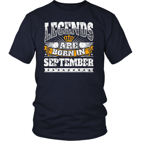 Birthday Shirt September: Legends Are Born In September Tee