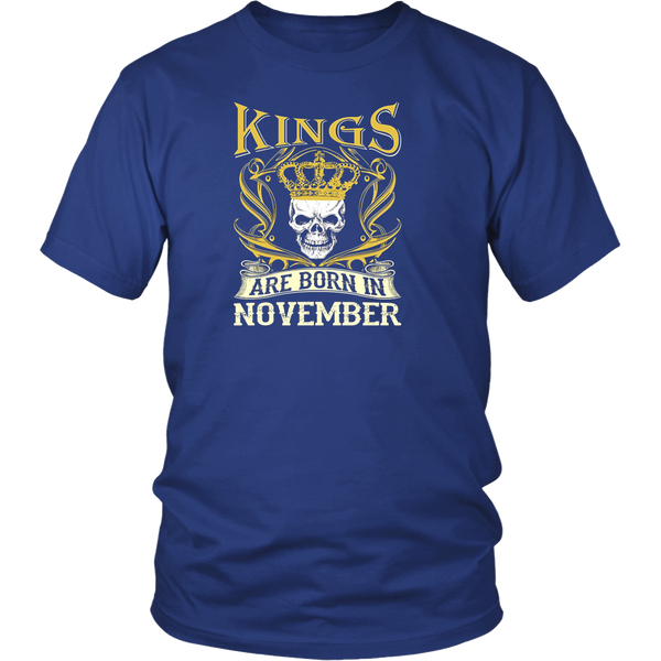 Black Kings Are Born In November Shirt