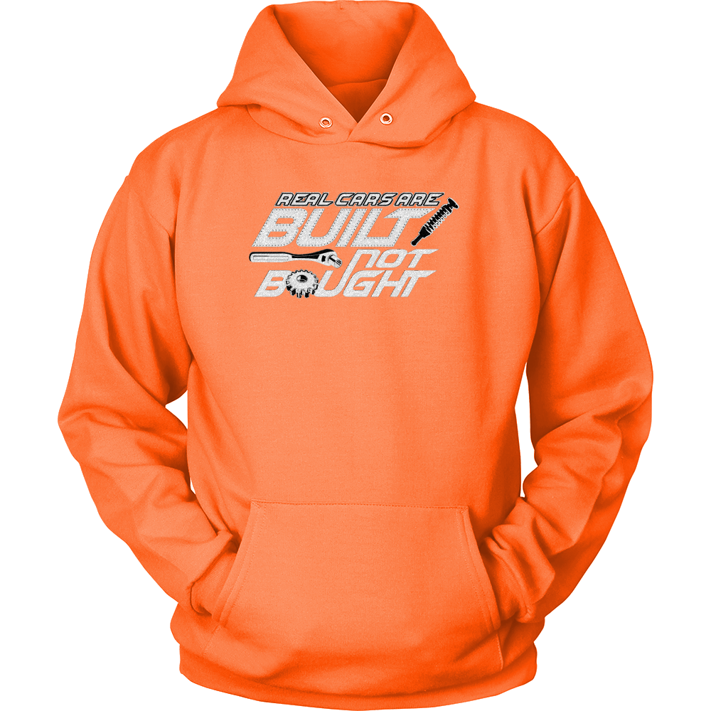 Hoodie Real Cars are Built Not Bought - Car Guy Garage T-Shirt