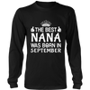 THE BEST NANA WAS BORN IN SEPTEMBER TSHIRT