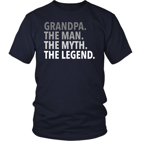 Men's Grandpa - The Man The Myth The Legend T Shirt Dad Papa