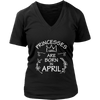 Princesses Are Born In April Birthday T-Shirt Gift for Girls