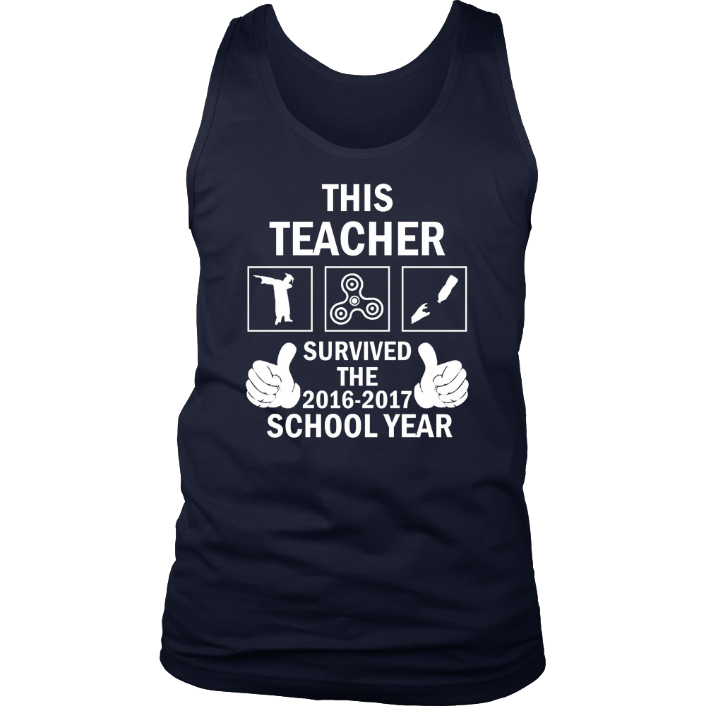 THIS TEACHER SURVIVED THE 2016-2017 SCHOOL YEAR GIFT T-SHIRT