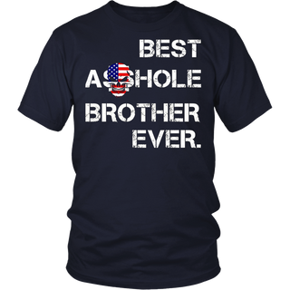 Best Asshole Brother Ever Skull T-shirt