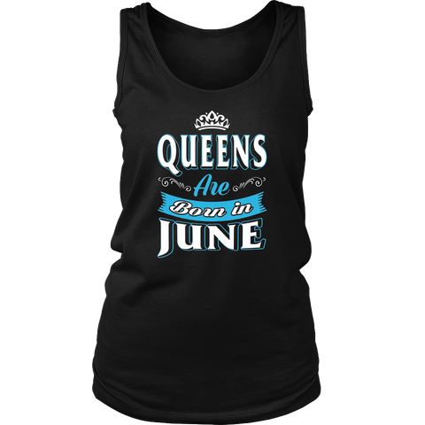 Queens Are Born In June Women's White T-Shirt