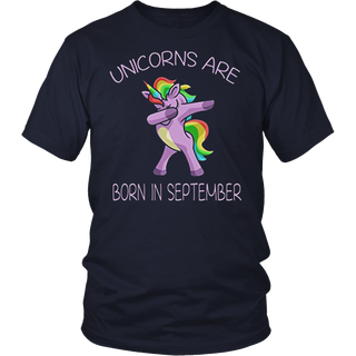 Unicorns are Born in September Cute T Shirt Dab Dance Pose