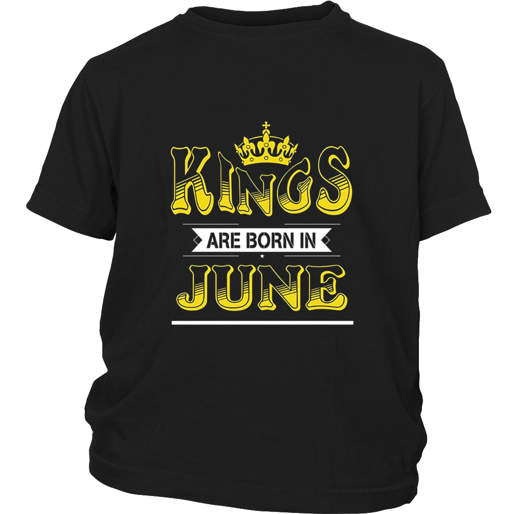 Mens Kings are Born in June Premium Funny T-shirt