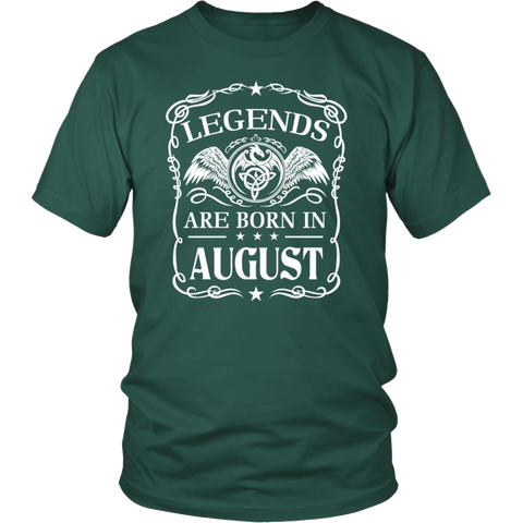 Legends Are Born In August T-shirt - Birthday T-Shirt