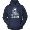 The Best Nanas Are Born In January Birthday Gift T-Shirt
