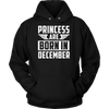 Princess are born in December birthday t-shirt